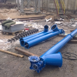 Tube screw conveyor before assembly